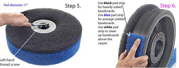 Putting pad strip and 17 inch pad on Scrub Jay