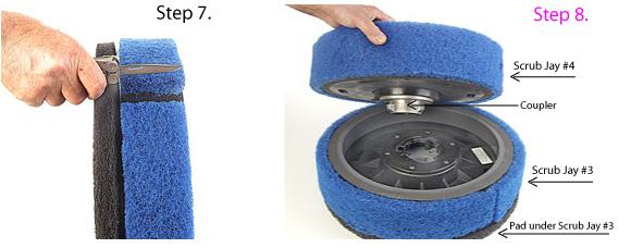 Adjusting pad strip on Scrub Jay. Coupling Scrub Jay #3 and #4 together