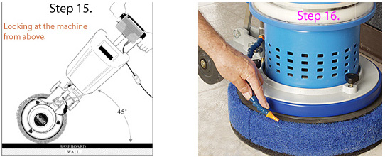 Baseboard Cleaning Using The Scrub Jay Attachment
