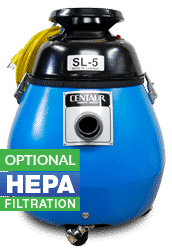 Dry Cannister Vacuum with Optional HEPA