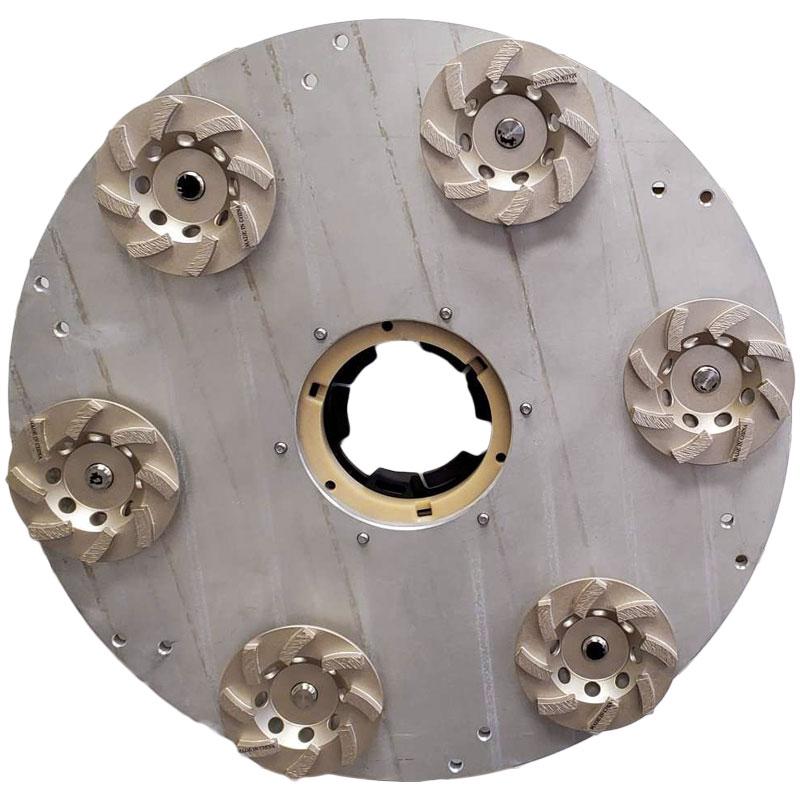 Aluminum magpie with cupwheels