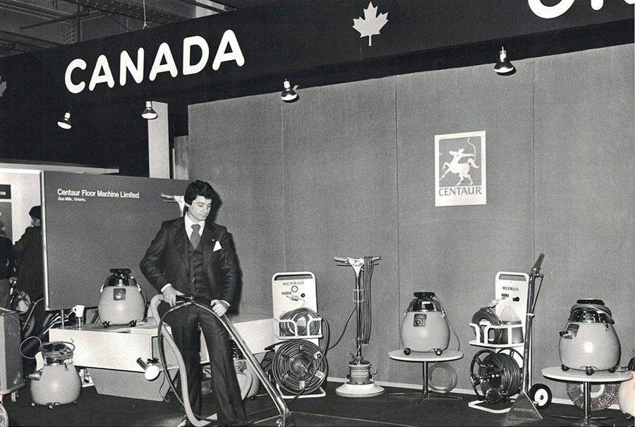 Tony at Tradeshow in 70s