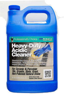 Heavy duty Acidic Cleaner. Grout film remover after the grout is laid and over spread