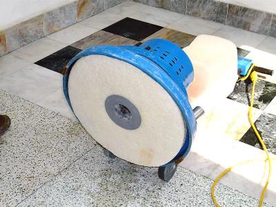 Polishing marble floor