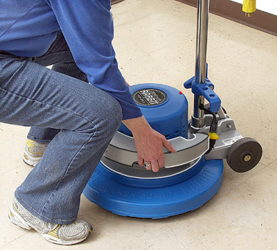 Add one 40lb weight to the polisher to speed up the polishing process